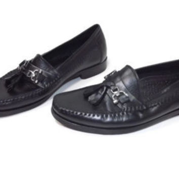 Giorgio Brutini Le Glove  mens slip on BLACK Leather  Loafers Shoes Size 8.5 M