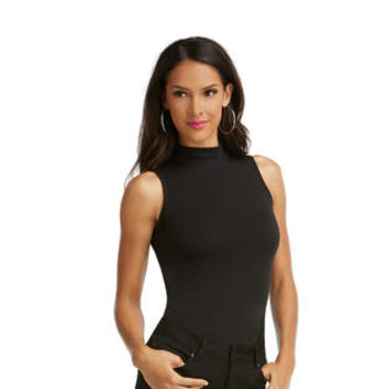 Women's Sleeveless Mock Neck Tee - Sears
