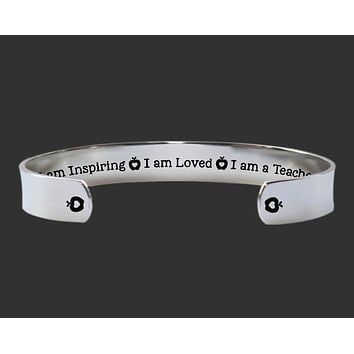 I Am a Teacher Bracelet | Teacher Gift