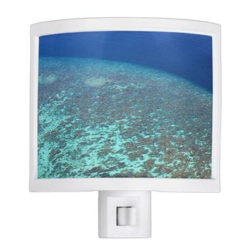 Sunny Tropical Maldives Coral Reef Blue Ocean Night Light