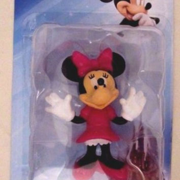 Minnie Mouse Disney Mini Figurine NIB by Beverly Hills Teddy Bear Company Figure