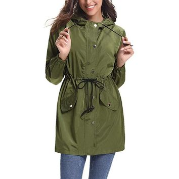 JACKET Womens Outdoor Waterproof Lightweight Windbreaker Raincoat Hooded Rain Jacket women coat winter