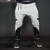 Designer men harem pants pantsMen Casual Battle Army Cotton Men Black Gray Pants casual men pants male trousers