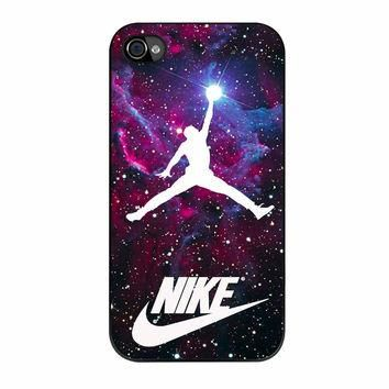 Michael Jordan Nike Galaxy Blue iPhone 4 Case