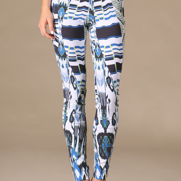 Jealous Tomato Blue Printed Pants