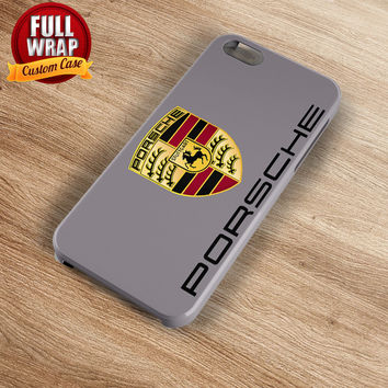 Porsche Automobile Car Logo Full Wrap Phone Case For iPhone, iPod, Samsung, Sony, HTC, Nexus, LG, and Blackberry