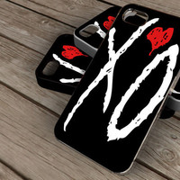 XO The Weeknd on iPhone 4 / iPhone 4S / iPhone 5 / Samsung S2 / Samsung S3 / Samsung S4 Case Cover THEMOSTCASE