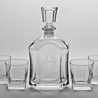 Personalized Raleigh Decanter Set