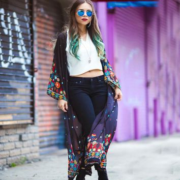 Full Sleeve Floral  Kimono Cover up
