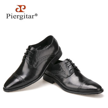 New High Quality Genuine Leather Men Shoes Casual Business Dress Shoes Autumn shoes For Men Lace-Up Bullock Shoes