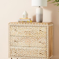 Handcarved Albaron Three-Drawer Dresser