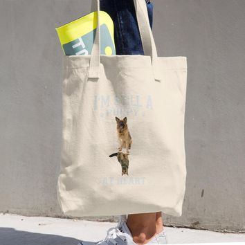 Puppy Cotton Tote Bag
