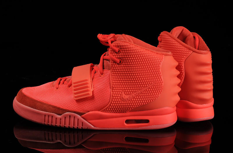 0263a70363666 Men s Nike Air Yeezy 2 Red October Basketball Shoes