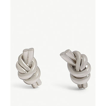 JW ANDERSON Knot eco brass earrings