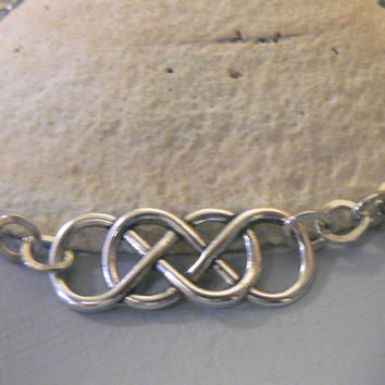 Double Infinity Symbol Bracelet Eternal Love Forever Friendship Revenge Inspired Chain Link Bracelet