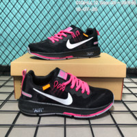 HCXX N180 OFF-White x Nike Air zoom Structure 21 Flyknit Breathable Running Shoes Black Pink