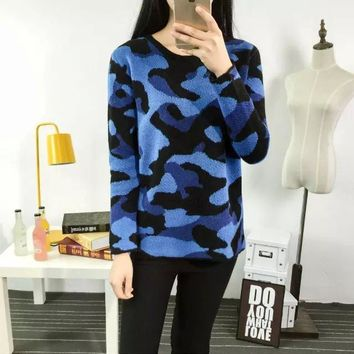 Winter Women's Fashion Camouflage Sweater [6513591751]