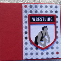 6x6 Chipboard Wrestling Scrapbook Album