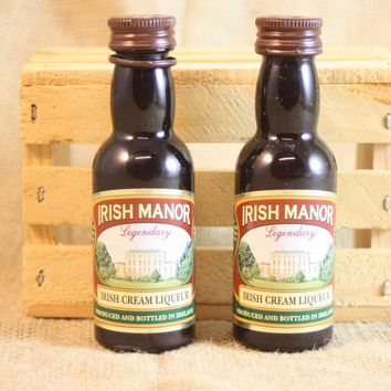 Salt & Pepper Shaker from Upcycled Irish Manor Mini Liquor Bottles