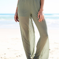 Khaki Jaz Pants | SABO SKIRT