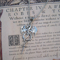 Jabberwocky Slayer Pendant  Alice in Wonderland