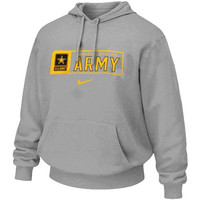 Army Black Knights Nike Military Classic Cotton Hoodie – Gray