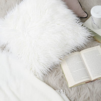 Shaggy Faux Fur Throw Pillow