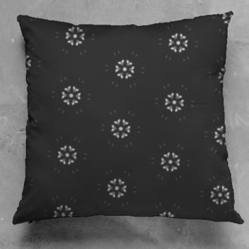 Dark Flower Accent Pillow