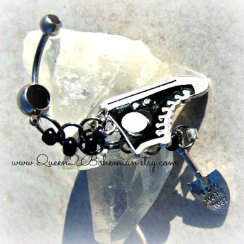 Tennis Shoe Belly Ring, Hipster, Preppy, Direct Checkout, Ready to Ship