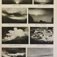 1950's Original Cloud Patterns Vintage Astronomy Astrology Print