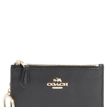 COACH Pebbled Leather Key Pouch | Nordstrom