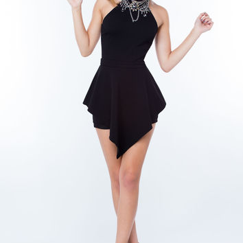 Party Crasher Peplum Halter Romper GoJane.com