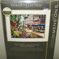 Dimensions Gold Collection Counted Cross Stitch Kit Paris Market