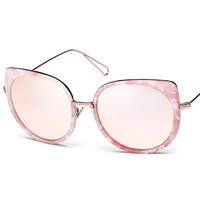 Cat Eye Sunglasses In Fine Frame And Metal Arms
