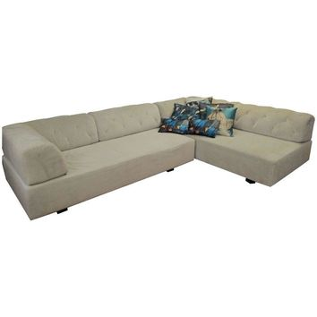 Pre-owned  West Elm Tufted Tillary Sectional Sofa