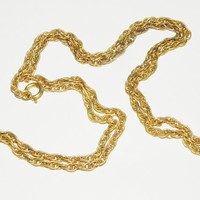 Vintage 12k Gold Filled wheat chain necklace