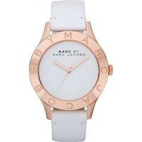 Marc Jacobs Women's 'Blade' Goldtone/ White Watch