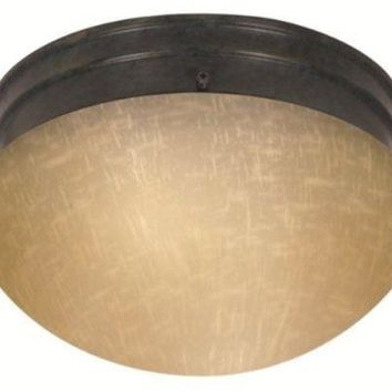 "Nuvo 60-2654 - 8"" Flush Mount Ceiling Light in Mahogany Bronze Finish"