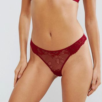 ASOS Ria Basic Lace Mix & Match Thong at asos.com