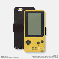 Pocket Game Boy iPhone leather wallet cover iPhone case Samsung Galaxy case 110
