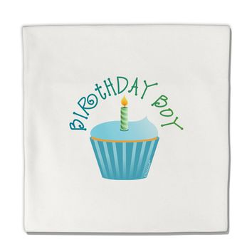 "Birthday Boy - Candle Cupcake Micro Fleece 14""x14"" Pillow Sham by TooLoud"