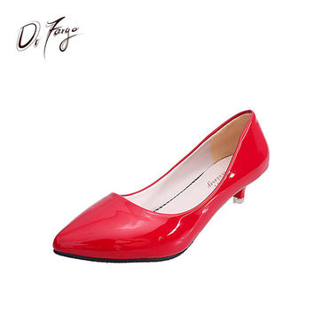 DRFARGO 3.5 cm Kitten Heel New Spring Summer Pumps Women's office Shoes Candy Colors Free Shipping