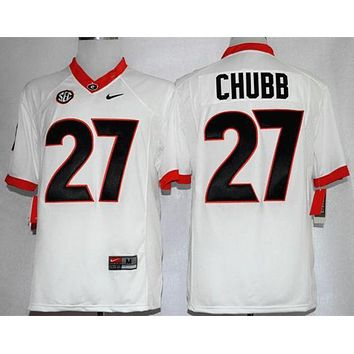 d0563fba2 PEAPO2N NIKE Georgia Bulldogs Nick Chubb 27 CollegeIce Hockey Li