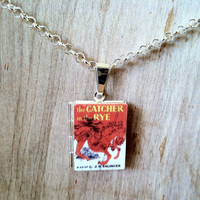 The Catcher In The Rye - J.D. Salinger - 2 cover options - Literary Locket -  Book Cover Locket Necklace