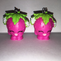 Shopkins Foodie Earrings - Strawberry Kiss - repurposed toys