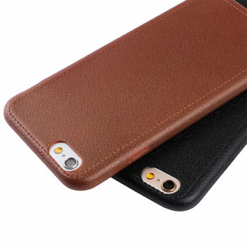 Luxury Leather Texture Pattern Mobile Phone Cases for Apple iPhone 6 6S 6Plus 6s plus 7 7Plus Soft TPU Phone Back Cover Case
