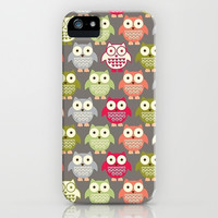 Owling Around iPhone & iPod Case by Pink Berry Pattern