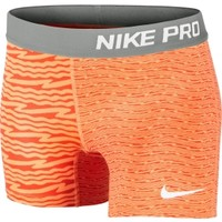 Nike Girls' Pro Core Compression Printed Shorts