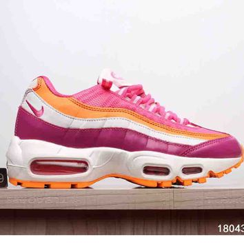 NIKE AIR MAX 95 MEN WOMEN SHOES CONTRAST SOLES SNEAKERS SPORTS SHOES B-A-XIONGDI-UPING Pink