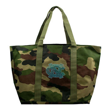 North Carolina Tar Heels NCAA Camo Tote